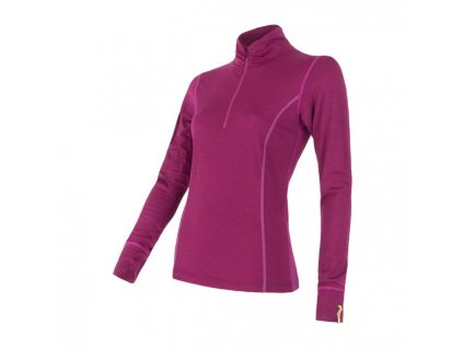 SENSOR MERINO ACTIVE dámské triko, stoják + zip