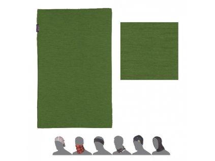 SENSOR TUBE MERINO WOOL multifunkční šátek zelený