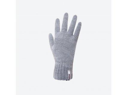 Pletené Merino rukavice Kama R101, šedá