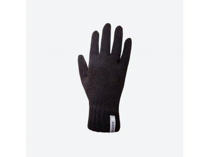Pletené Merino rukavice Kama R101, černá