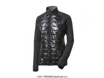 Progress DINARA WOOL dámská hybridní bunda, černá