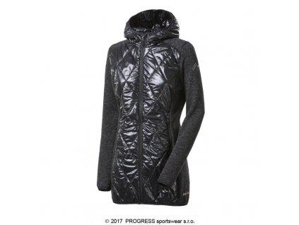 Progress SILVRETTA WOOL dámská hybridní bunda s kapucí, černá