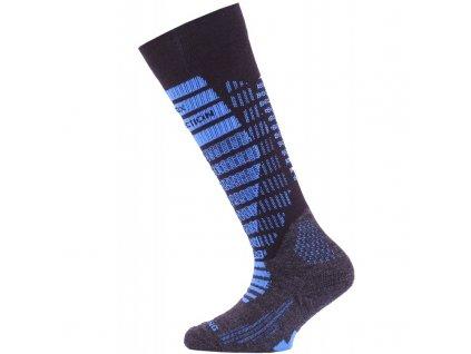 Lasting dětské merino lyžařské ponožky SJR černé