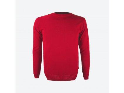 Pánský merino svetr Kama 4101, červená