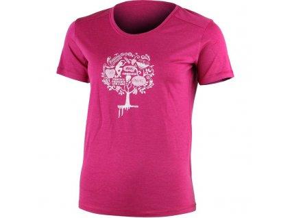Lasting dámské merino triko LUNA růžové