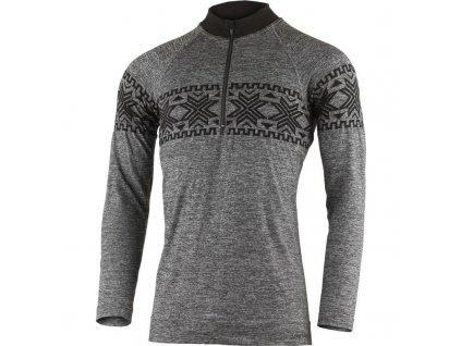 Lasting pánské merino bezešvé triko WIRO šedé