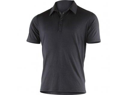 Lasting pánská merino polo košile JARIS černá
