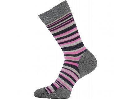 Lasting dámské merino  ponožky WWL růžové