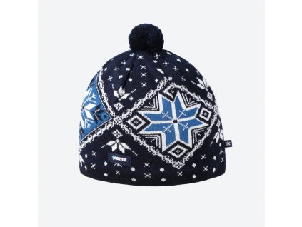Pletená Merino čepice Kama A138, modrá