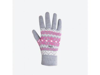 Pletené Merino rukavice Kama R107, šedá