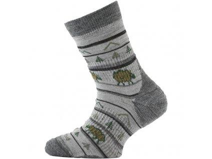Lasting dětské merino ponožky TJL šedé