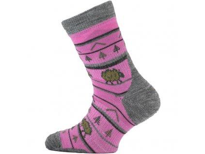 LASTING TJL Dětské merino ponožky