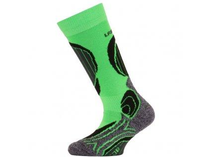 Lasting dětské merino lyžařské ponožky SJB zelené
