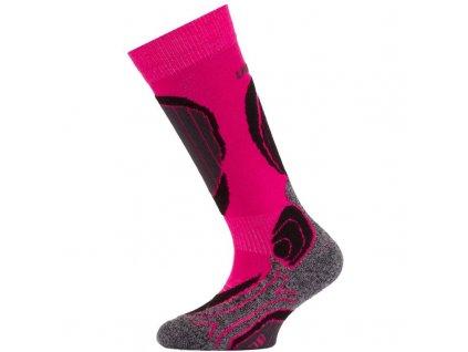 Lasting dětské merino lyžařské ponožky SJB růžové