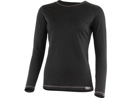 Lasting dámské merino triko MATA černé