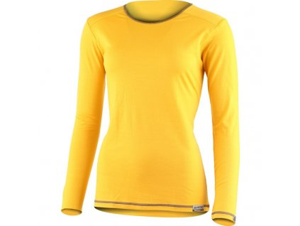 Lasting dámské merino triko MATA žluté