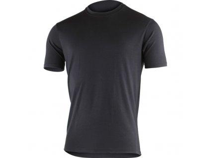 Lasting pánské merino triko JOHN černé