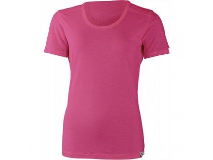 Lasting dámské merino triko EVELINA růžové