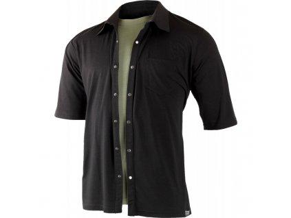 Lasting pánská merino polo košile EMIL černá