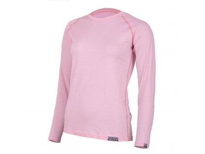 Lasting dámské merino triko ATILA růžové