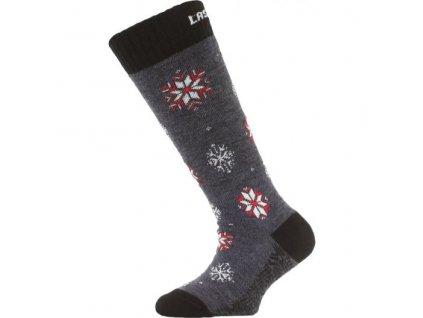 lasting detske merino lyzarske ponozky sja modre 509