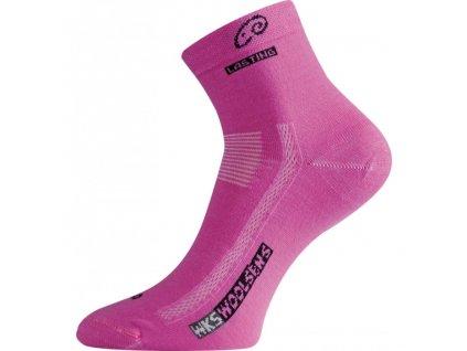 Lasting merino ponožky WKS růžové