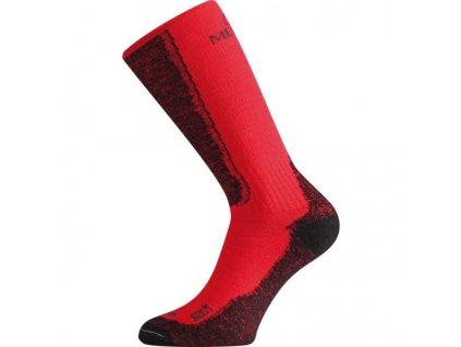 Lasting merino ponožky WSM červené