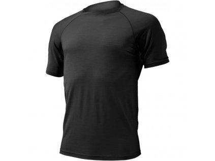 Lasting pánské merino triko QUIDO černé