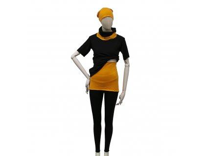 MERIWO Dámský bederní/ledvinový pás z merino vlny žlutá-oranžová