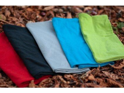 Merino nákrčník ÚZKÝ TUNEL - různé barvy