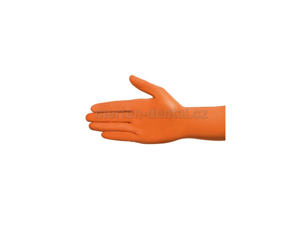4080 ampri style nitril rukavice oranzove xs nepudrovane 100ks