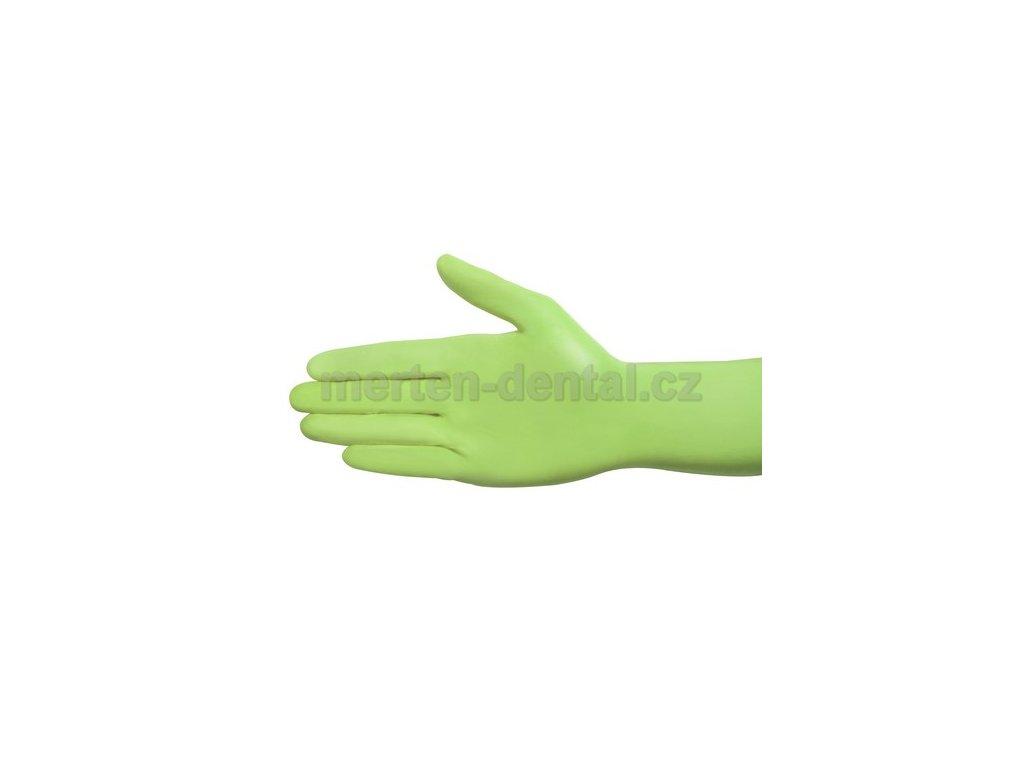 4125 ampri style nitril rukavice zelenkave l nepudrovane 100ks
