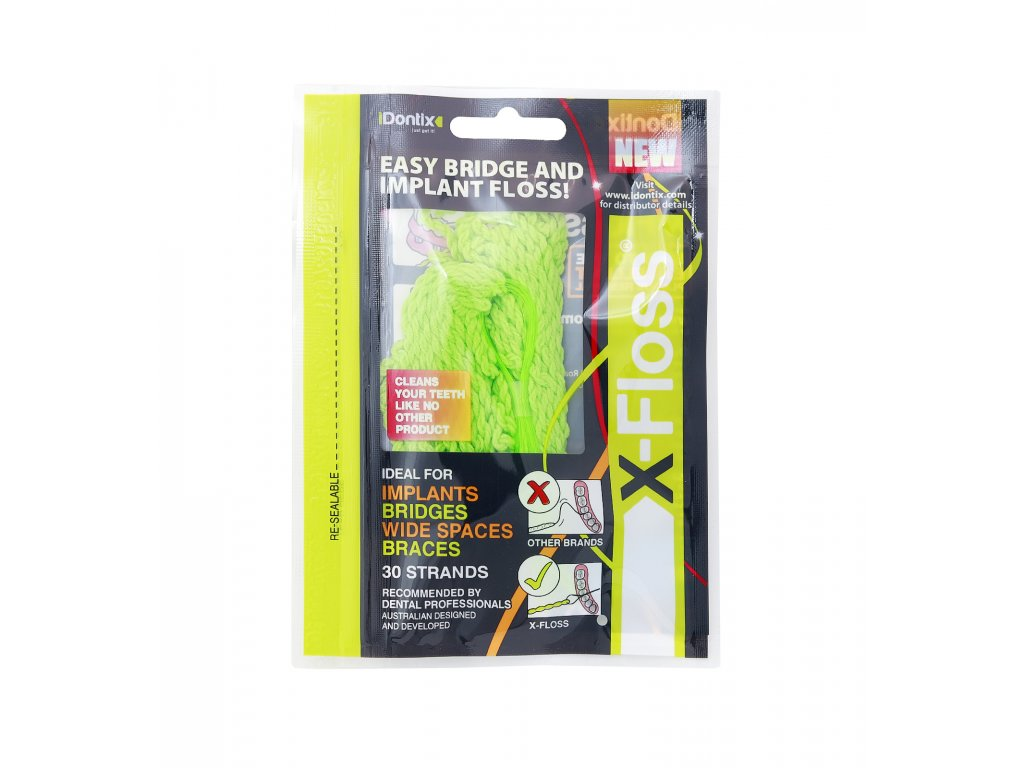 4272 idontix x floss dentalni vlakno zeleny 30ks
