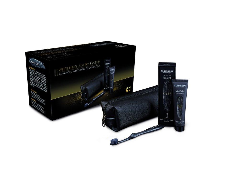 CS 05773 Curasept BLACK Luxury whitening dent 75 box EN