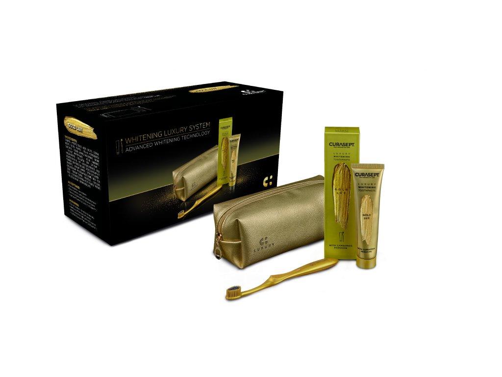 CS 05772 Curasept GOLD Luxury whitening dent 75 box EN