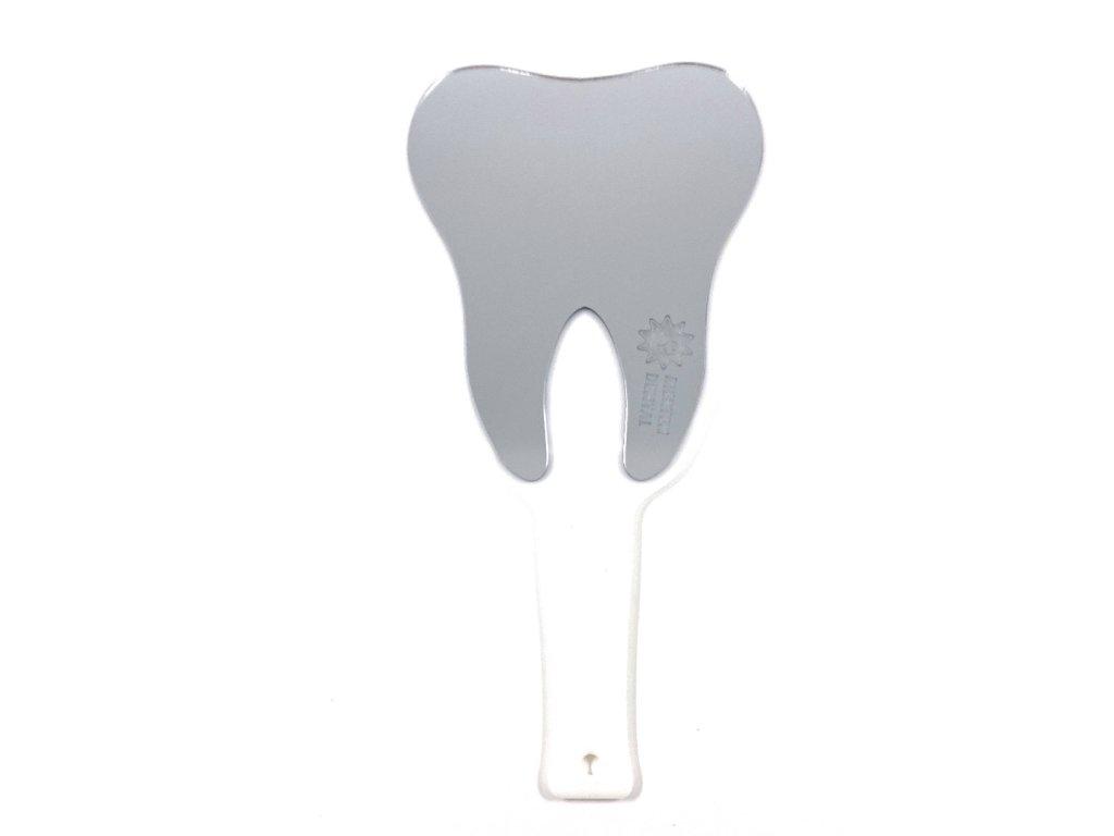 Zrcátko do ruky ve tvaru zubu bílé