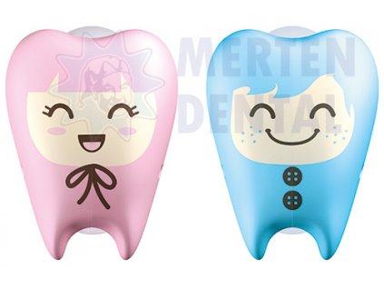 3363 flipper zoubky svetle modry a svetle ruzovy krytky na zubni kartacky 2ks