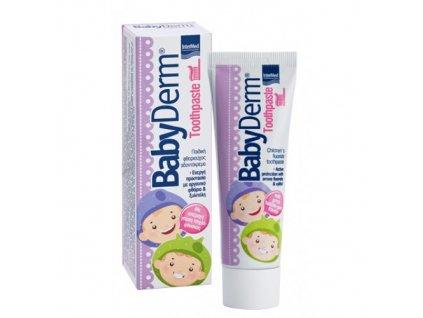 4293 babyderm s fluoridy detska zubni pasta zvykackova 50ml
