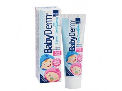 4299 babyderm first bez fluoridu detska zubni pasta zvykackova 50ml