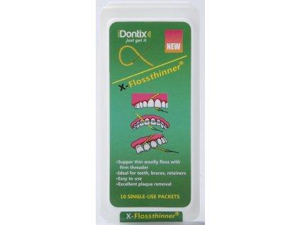 4689 idontix x floss ultra tenke dentalni vlakno zlute 10ks