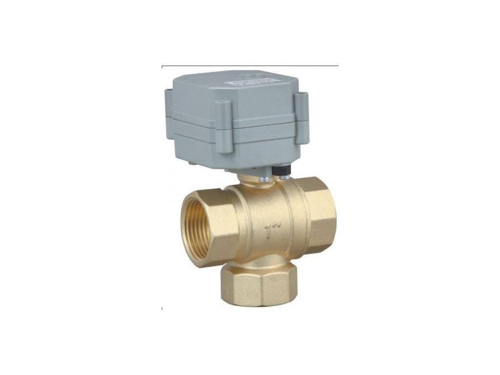 """Trojcestný guľový ventil s reverzným pohonom (110-230V) a ukazovateľom polohy G3/4""""-MERTENS spol. s r.o."""