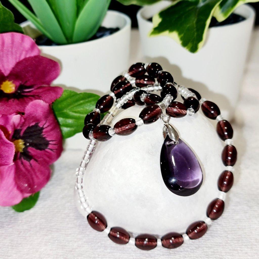 Ametyst síly - náhrdelník