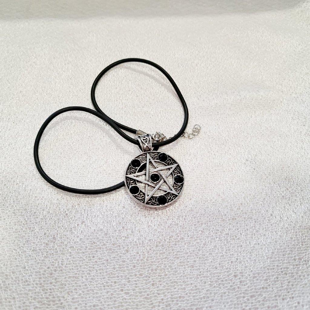 Ochranný pentagram - osobní Amulet černý