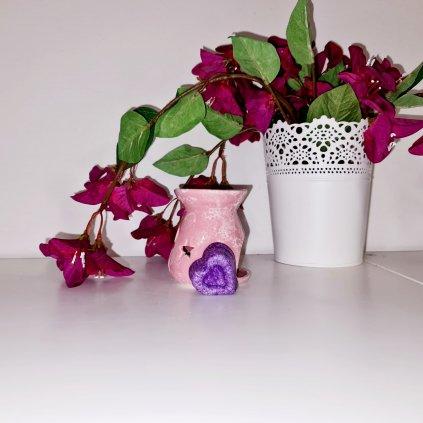 Aromalampa růžová s originálním vonným voskem Messiny