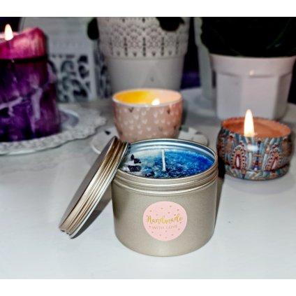 Vonná šeříková svíčka s Ametystem