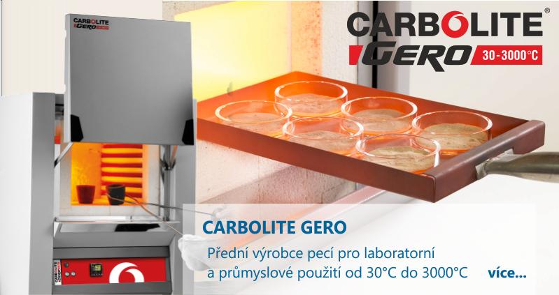 Zastupujeme firmu CARBOLITE GERO - předního výrobce laboratorních a průmyslových pecí