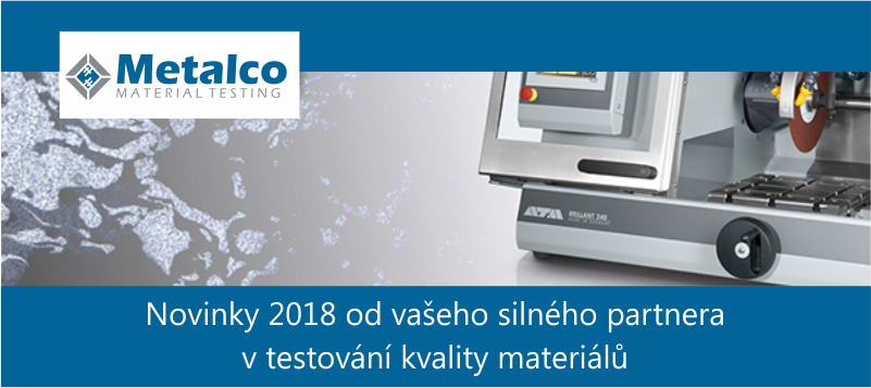 Metalco Testing - NOVINKY 2018