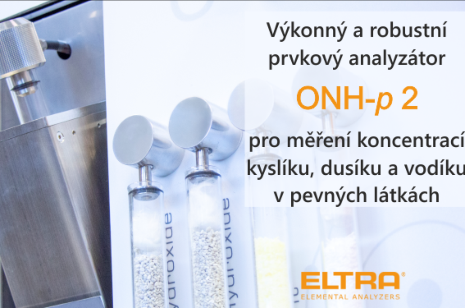 Objevte skvělé inovativní funkce nového prvkového analyzátoru ELEMENTRAC ONH-p 2