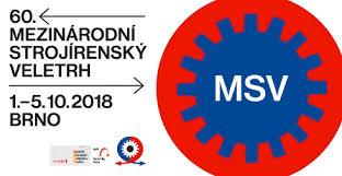 1. - 5. 10. 2018 - 60. Mezinárodní strojírenský veletrh BRNO 2018