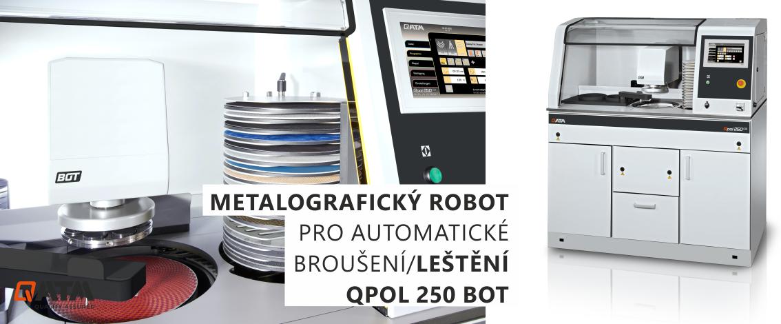 QPOL 250 BOT (SAPHIR X-Change) je kompaktní automatická bruska leštička, která umožnuje plně automatickou přípravu vzorků bez jakékoliv lidské pomoci.